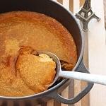 鍋でたっぷり黒糖プリン