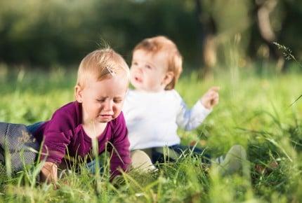 Cute little boy and girl