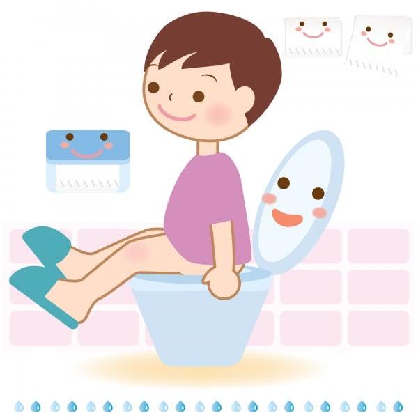 Toilet Child Illustration